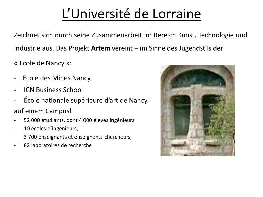L'Université de Lorraine