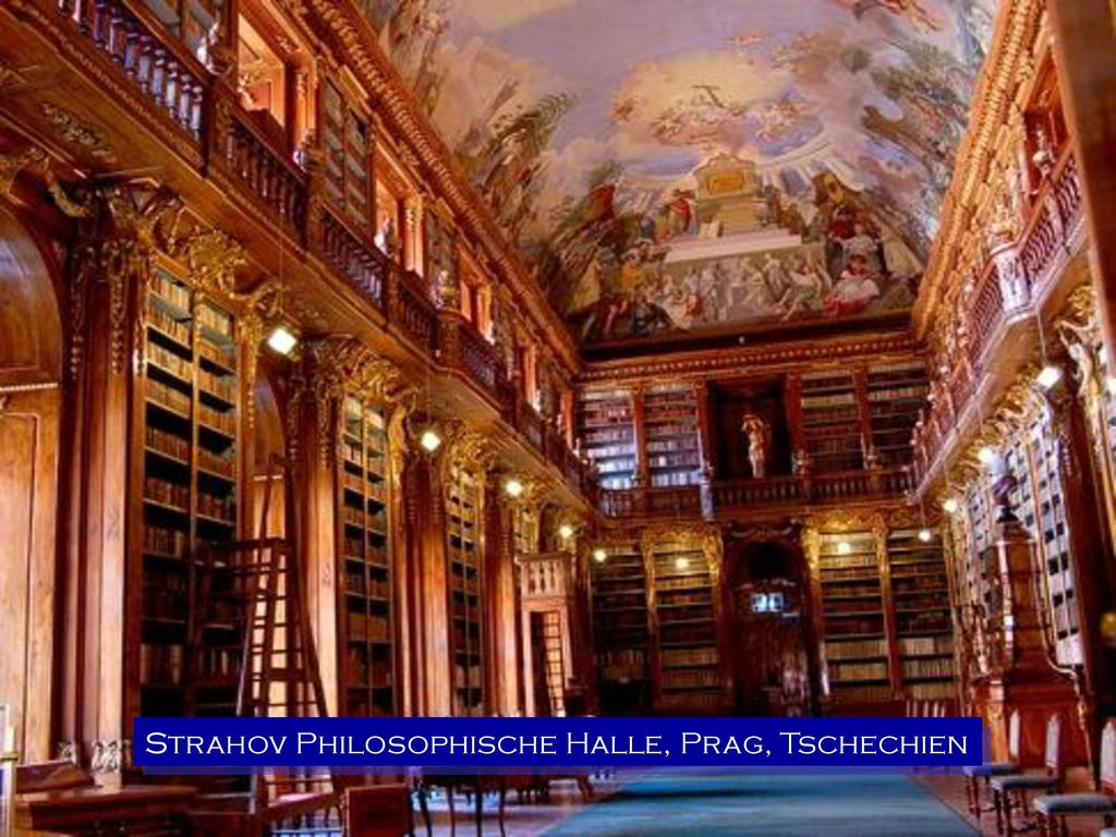 Strahov Philosophische Halle, Prag, Tschechien