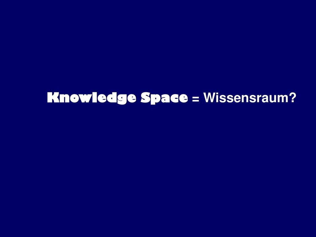 Knowledge Space = Wissensraum