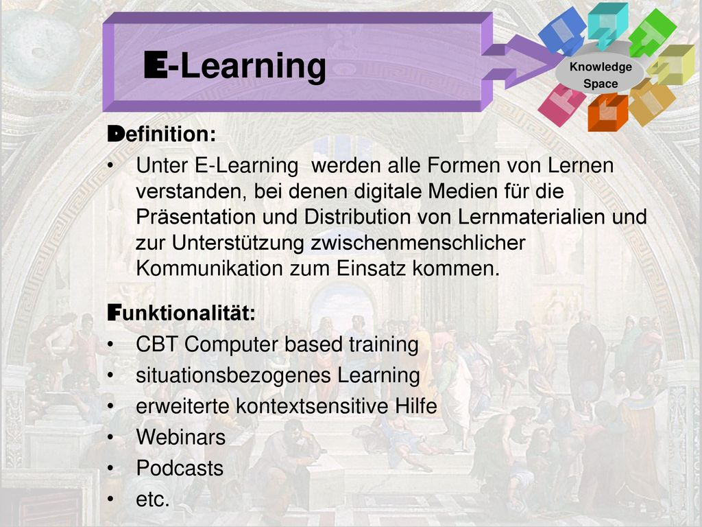 E-Learning Definition: