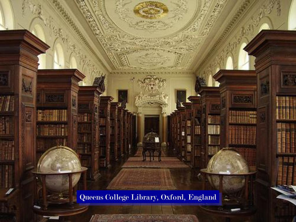 Queens College Library, Oxford, England