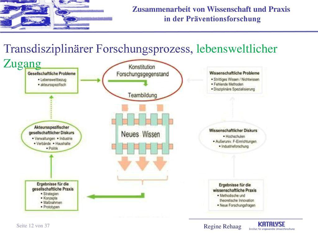 Transdisziplinärer Forschungsprozess, lebensweltlicher Zugang