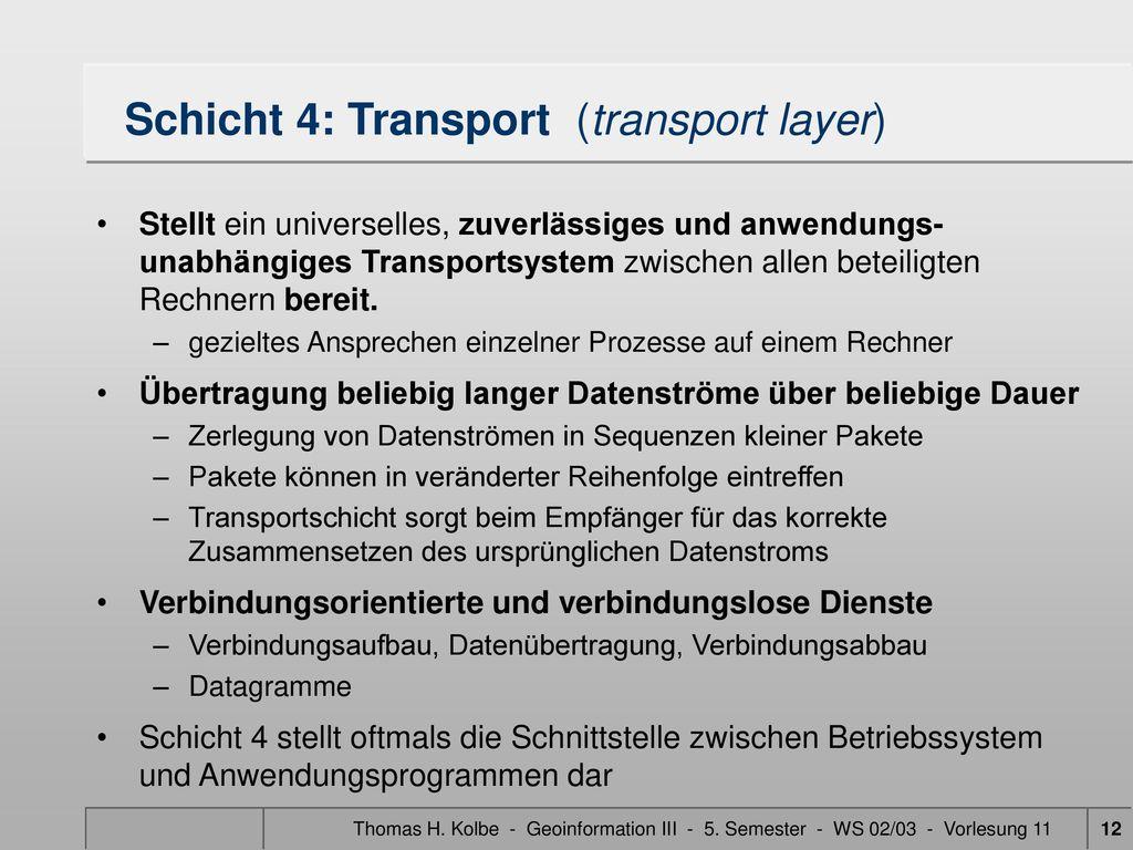 Schicht 4: Transport (transport layer)