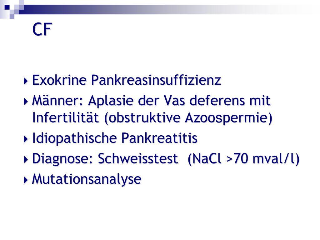 CF Exokrine Pankreasinsuffizienz