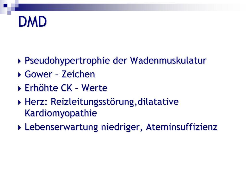 DMD Pseudohypertrophie der Wadenmuskulatur Gower – Zeichen