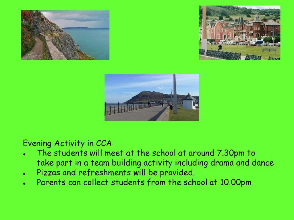 Evening Activity in CCA