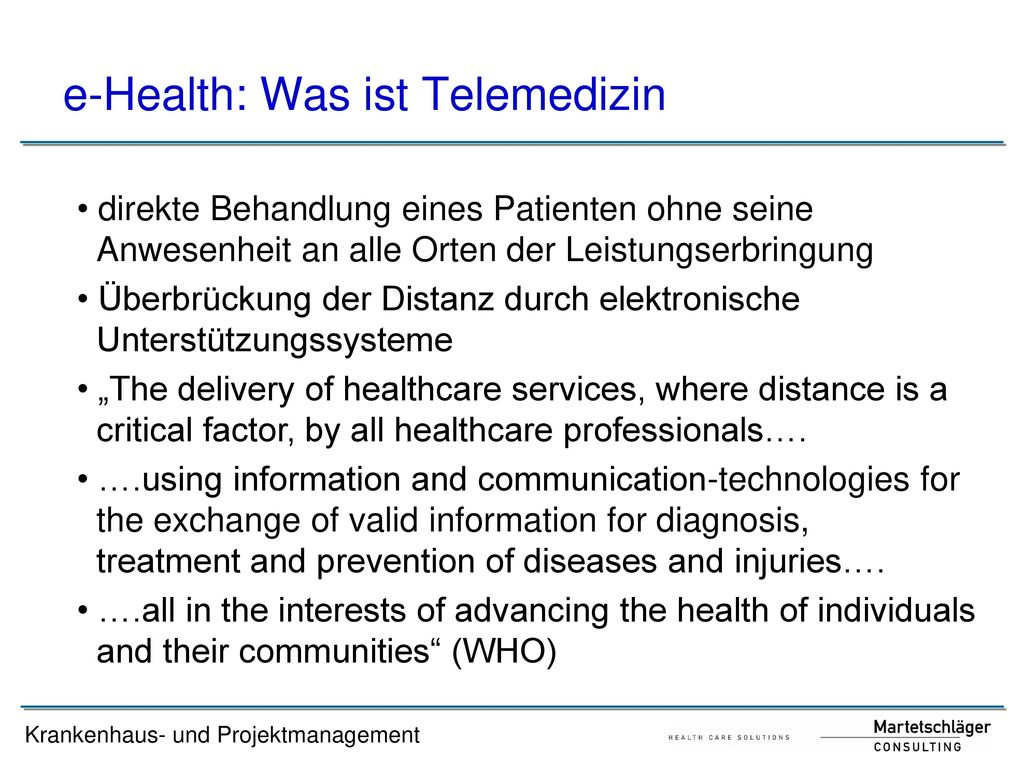 e-Health: Was ist Telemedizin