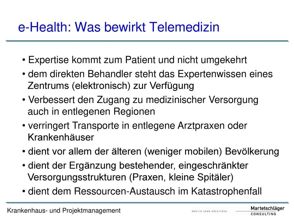 e-Health: Was bewirkt Telemedizin