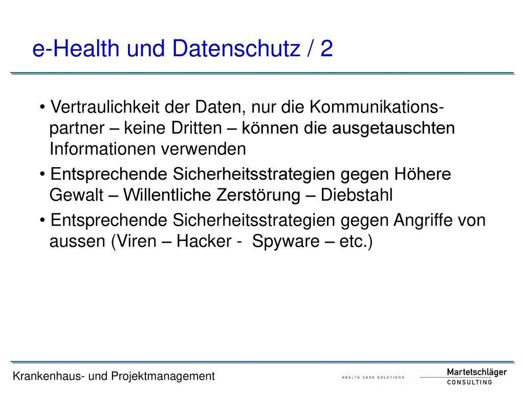 e-Health und Datenschutz / 2
