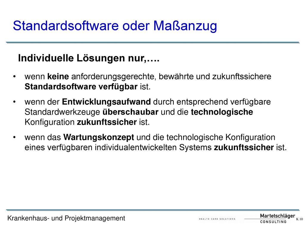 Standardsoftware oder Maßanzug
