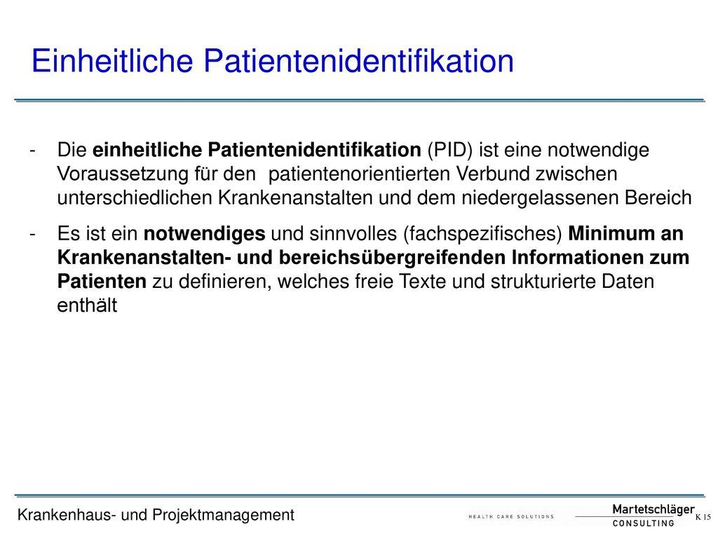 Einheitliche Patientenidentifikation