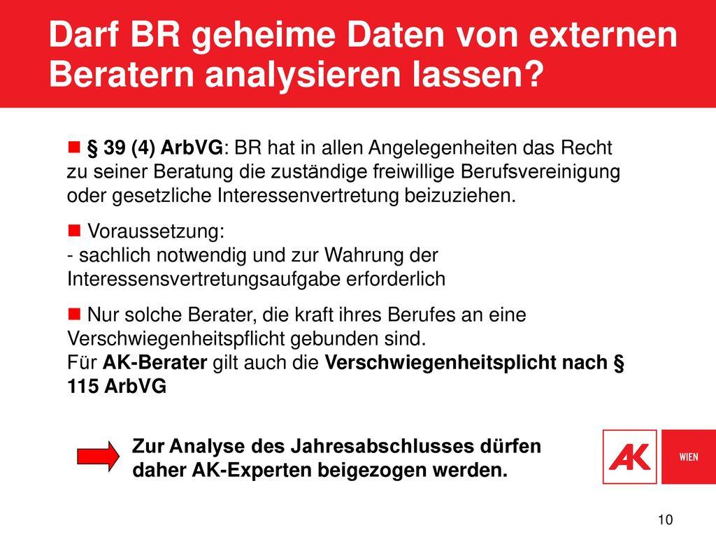 Darf BR geheime Daten von externen Beratern analysieren lassen