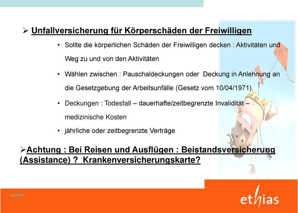 Ehrenamt und Versicherungen Ministerium Eupen– Europasaal