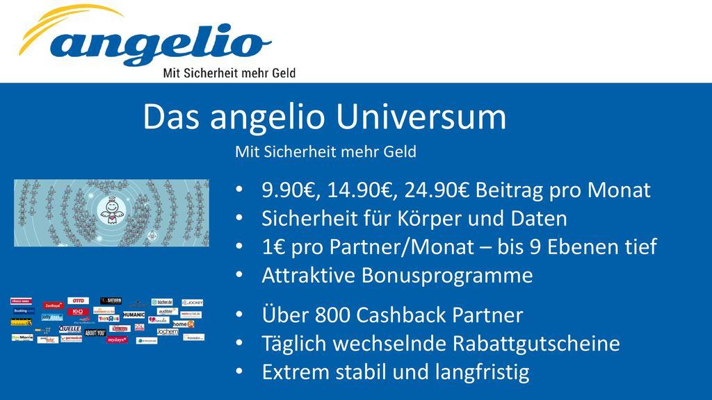 Das angelio Universum 9.90€, 14.90€, 24.90€ Beitrag pro Monat