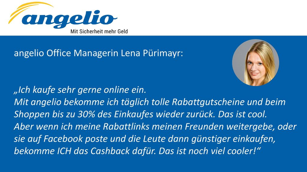 angelio Office Managerin Lena Pürimayr: