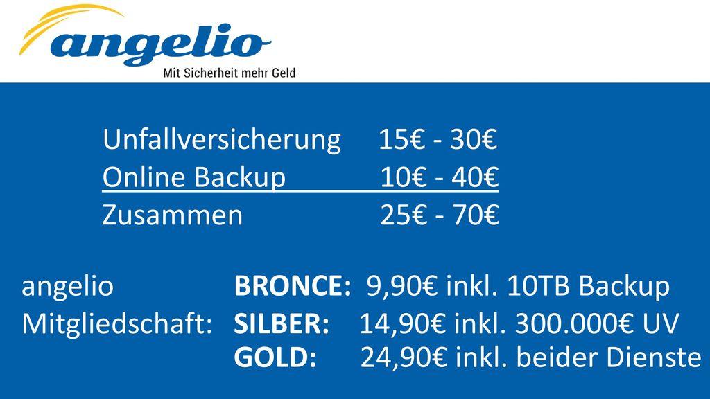 Unfallversicherung 15€ - 30€