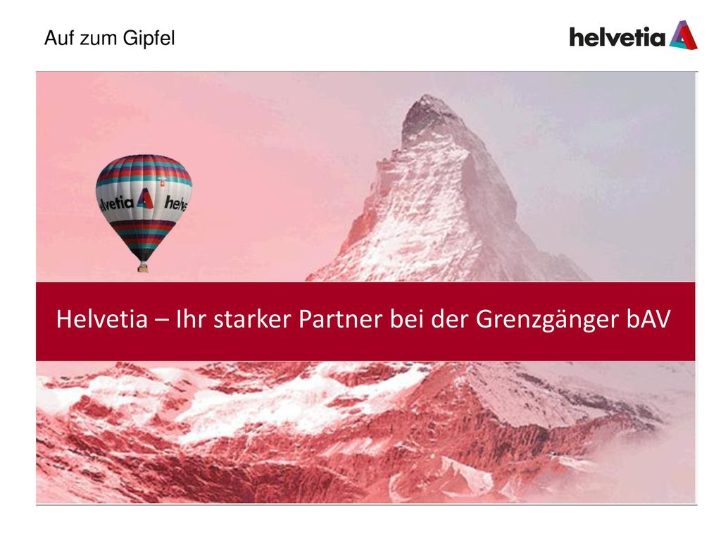 Helvetia – Ihr starker Partner bei der Grenzgänger bAV