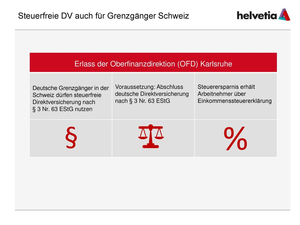 Steuerfreie DV auch für Grenzgänger Schweiz