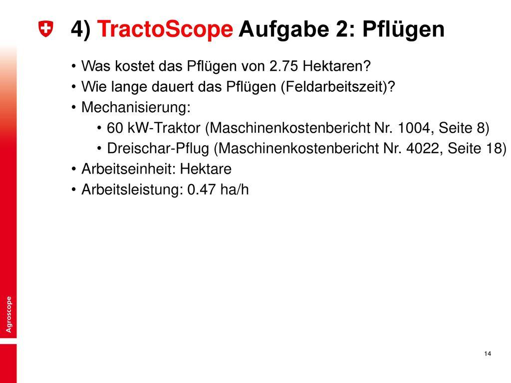 4) TractoScope Aufgabe 2: Pflügen