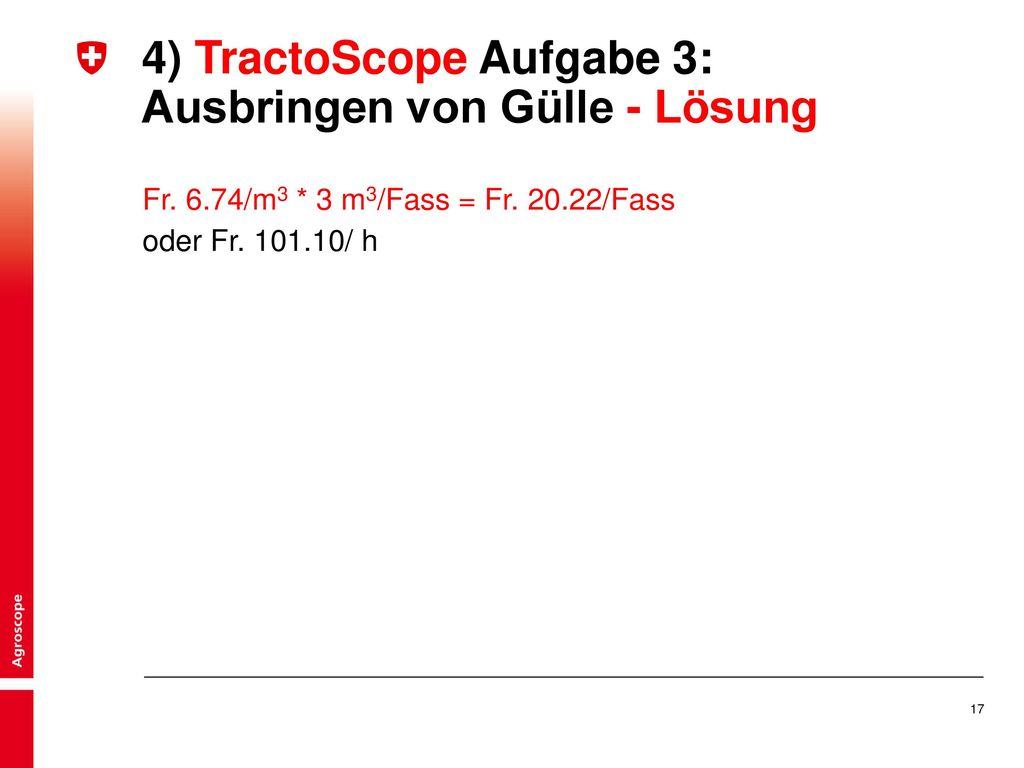 4) TractoScope Aufgabe 3: Ausbringen von Gülle - Lösung