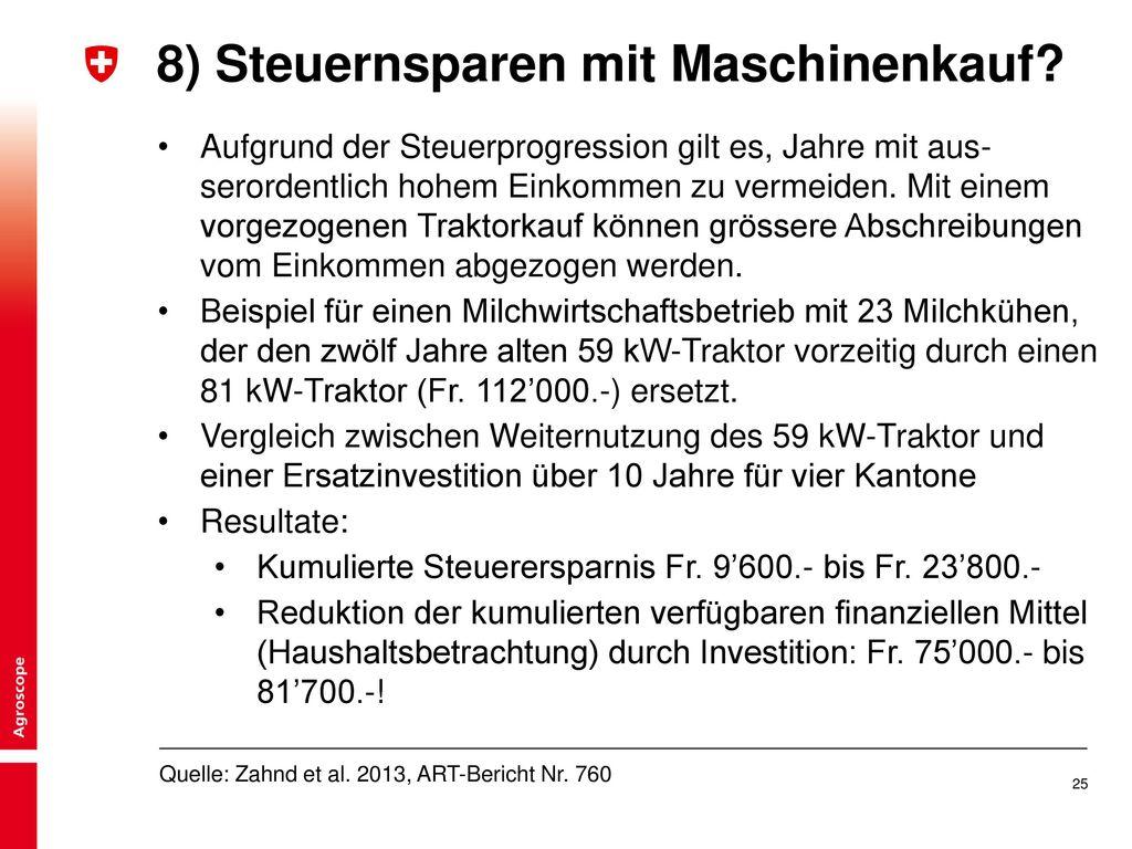 8) Steuernsparen mit Maschinenkauf