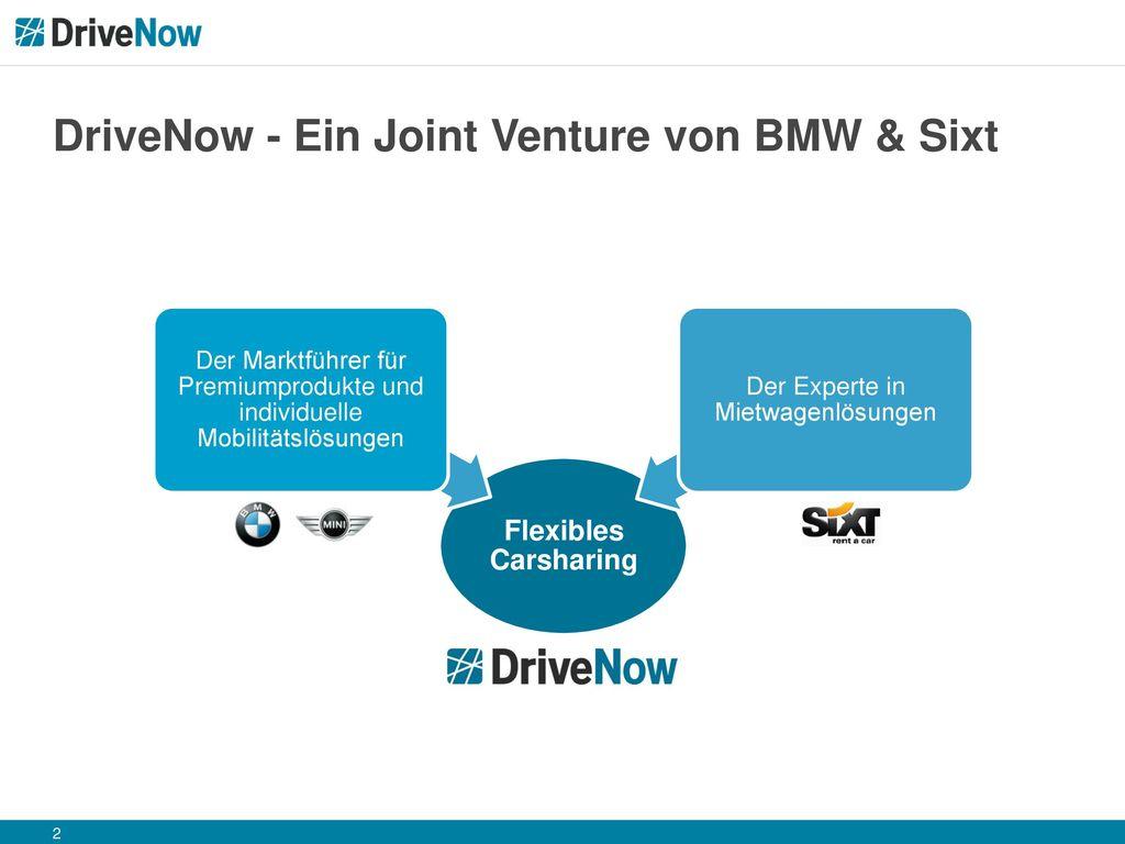 DriveNow - Ein Joint Venture von BMW & Sixt