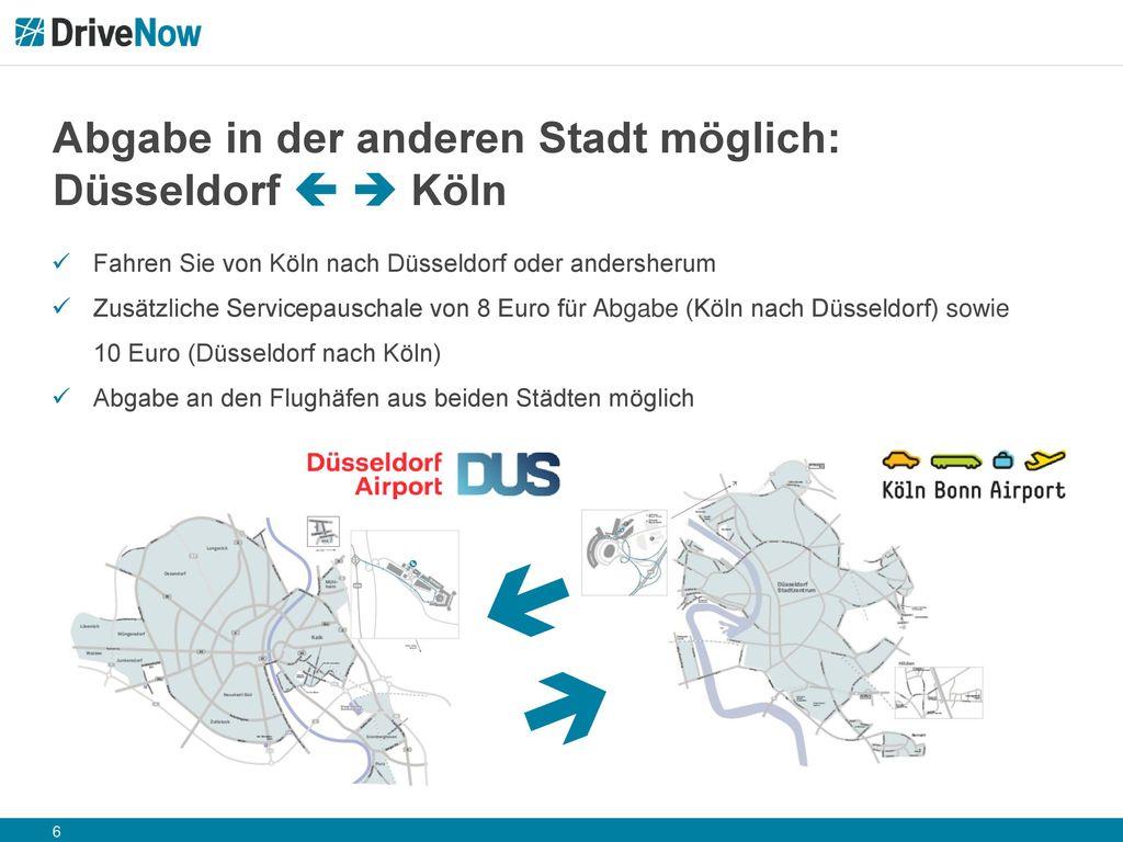 Abgabe in der anderen Stadt möglich: Düsseldorf   Köln