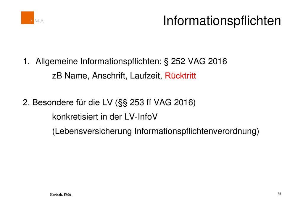 Informationspflichten