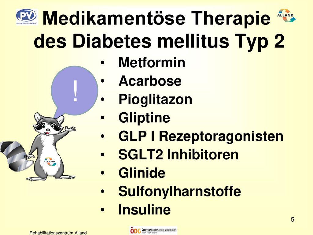 wichtigsten therapien von diabetes