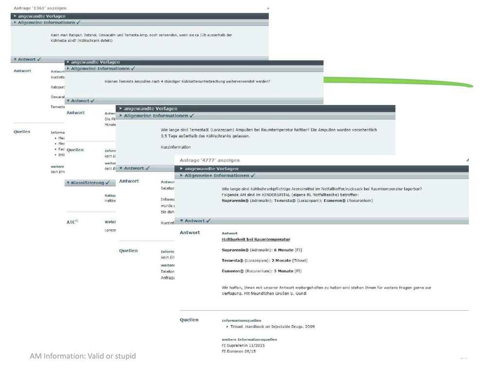 D. Krencker AM Information: Valid or stupid
