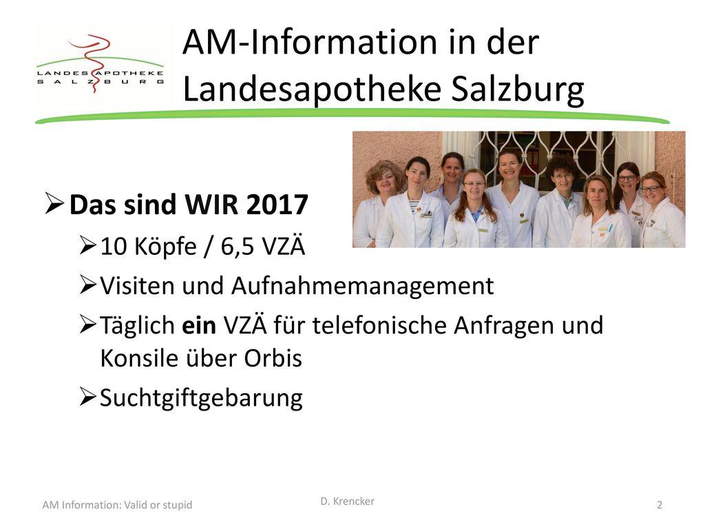 AM-Information in der Landesapotheke Salzburg