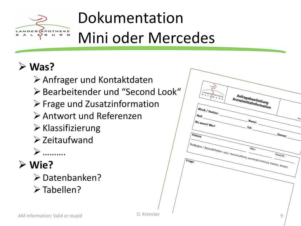 Dokumentation Mini oder Mercedes