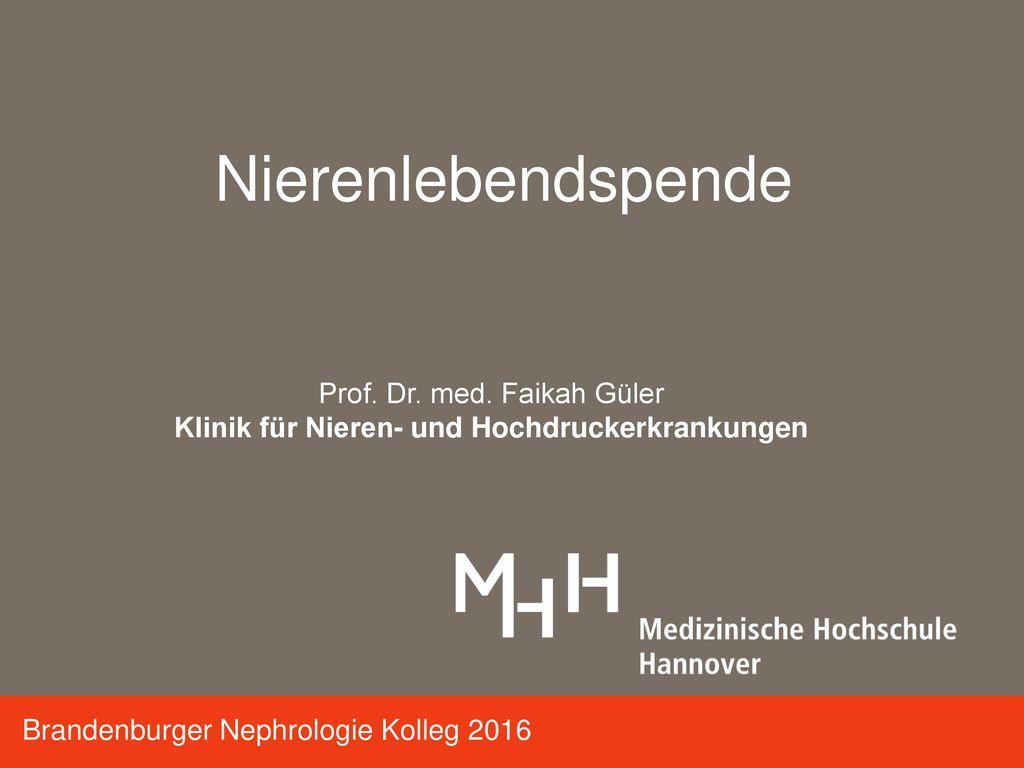 Klinik für Nieren- und Hochdruckerkrankungen