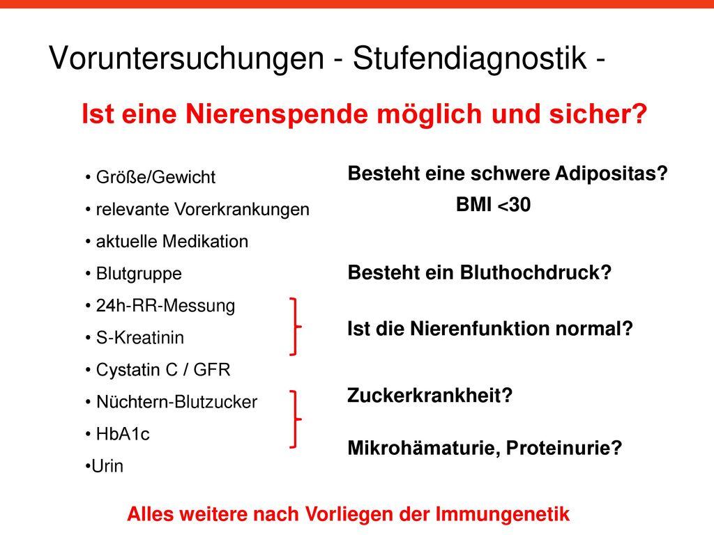 Voruntersuchungen - Stufendiagnostik -