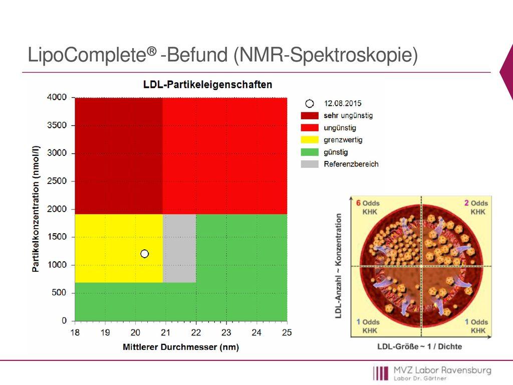 LipoComplete -Befund (NMR-Spektroskopie)