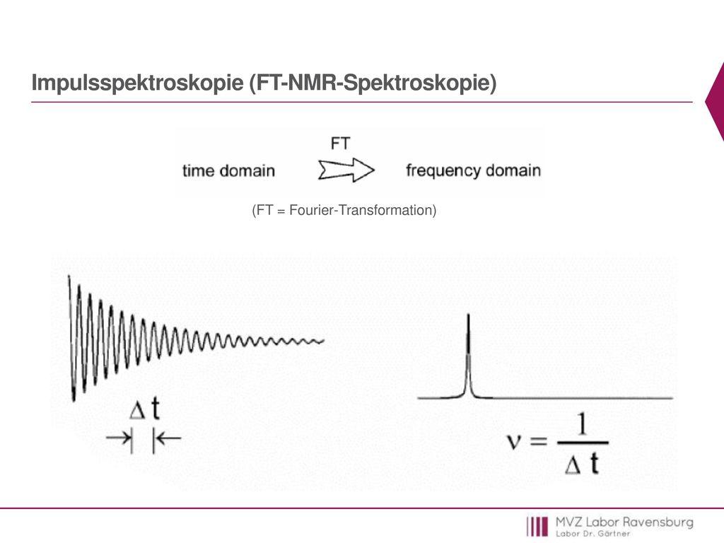Impulsspektroskopie (FT-NMR-Spektroskopie)