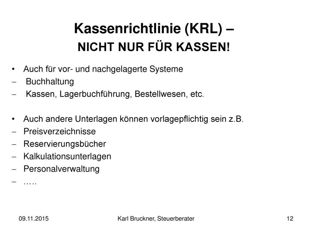 Kassenrichtlinie (KRL) –
