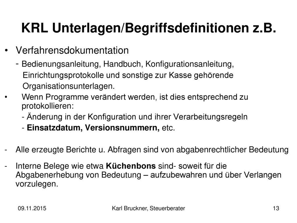 KRL Unterlagen/Begriffsdefinitionen z.B.