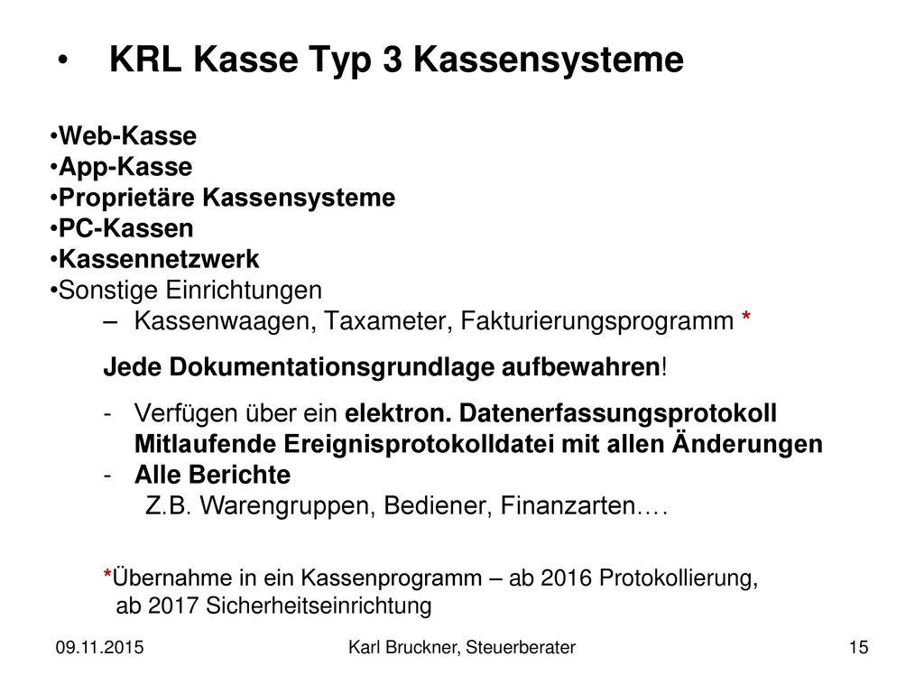 KRL Kasse Typ 3 Kassensysteme