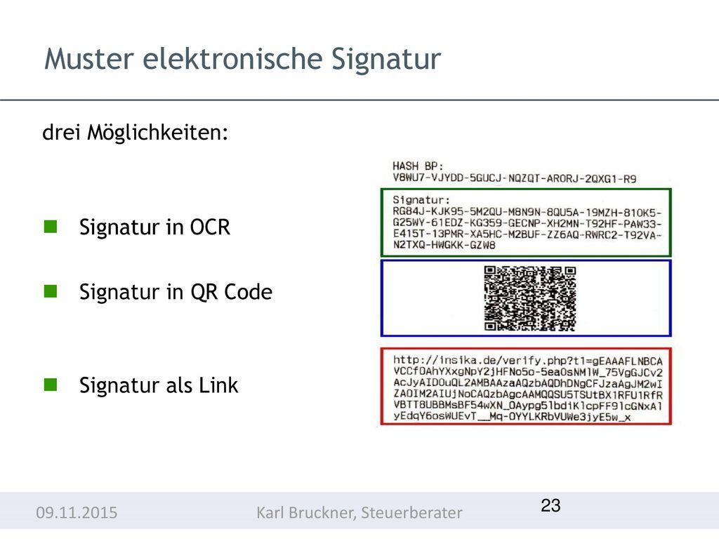Muster elektronische Signatur