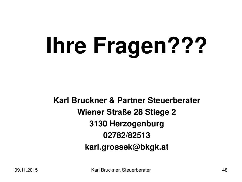 Karl Bruckner & Partner Steuerberater