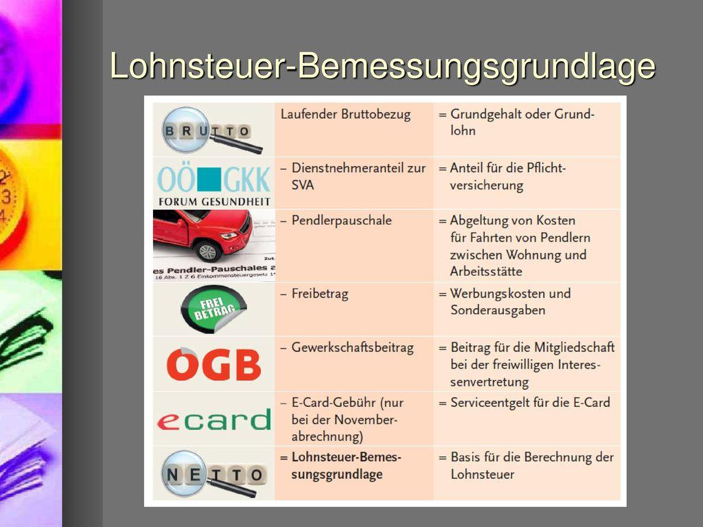 Lohnsteuer-Bemessungsgrundlage