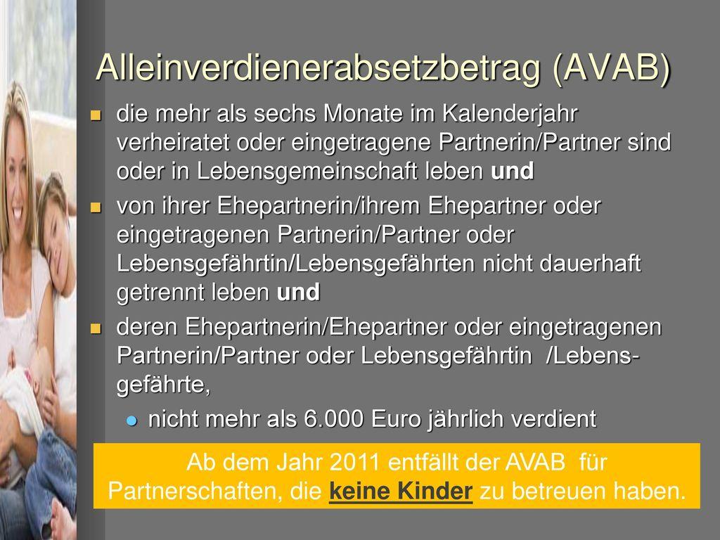 Alleinverdienerabsetzbetrag (AVAB)