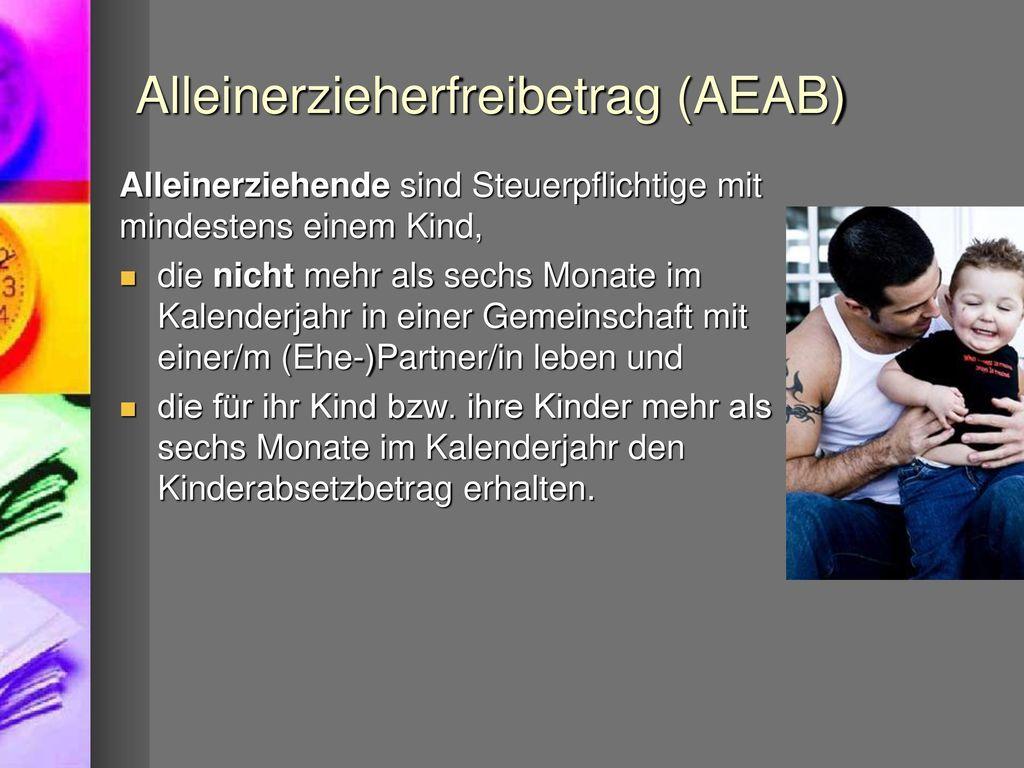 Alleinerzieherfreibetrag (AEAB)