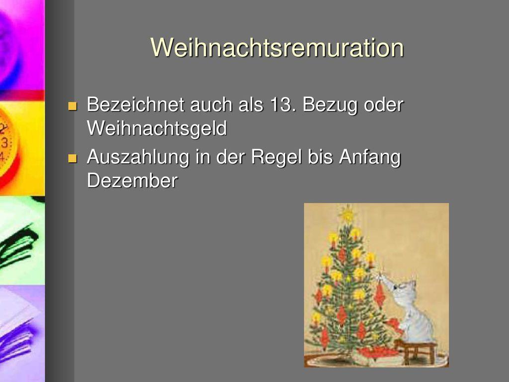 Weihnachtsremuration
