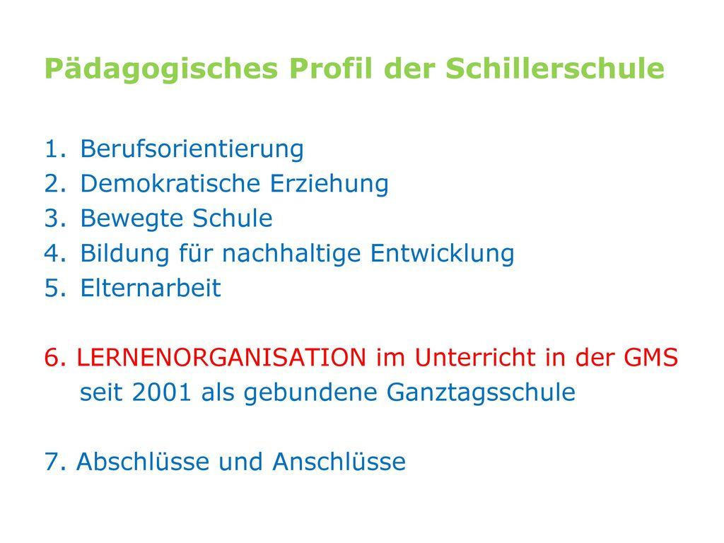 Pädagogisches Profil der Schillerschule