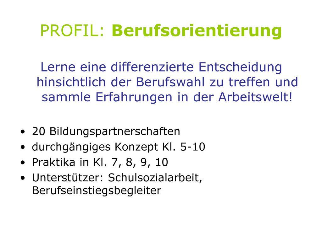 PROFIL: Berufsorientierung