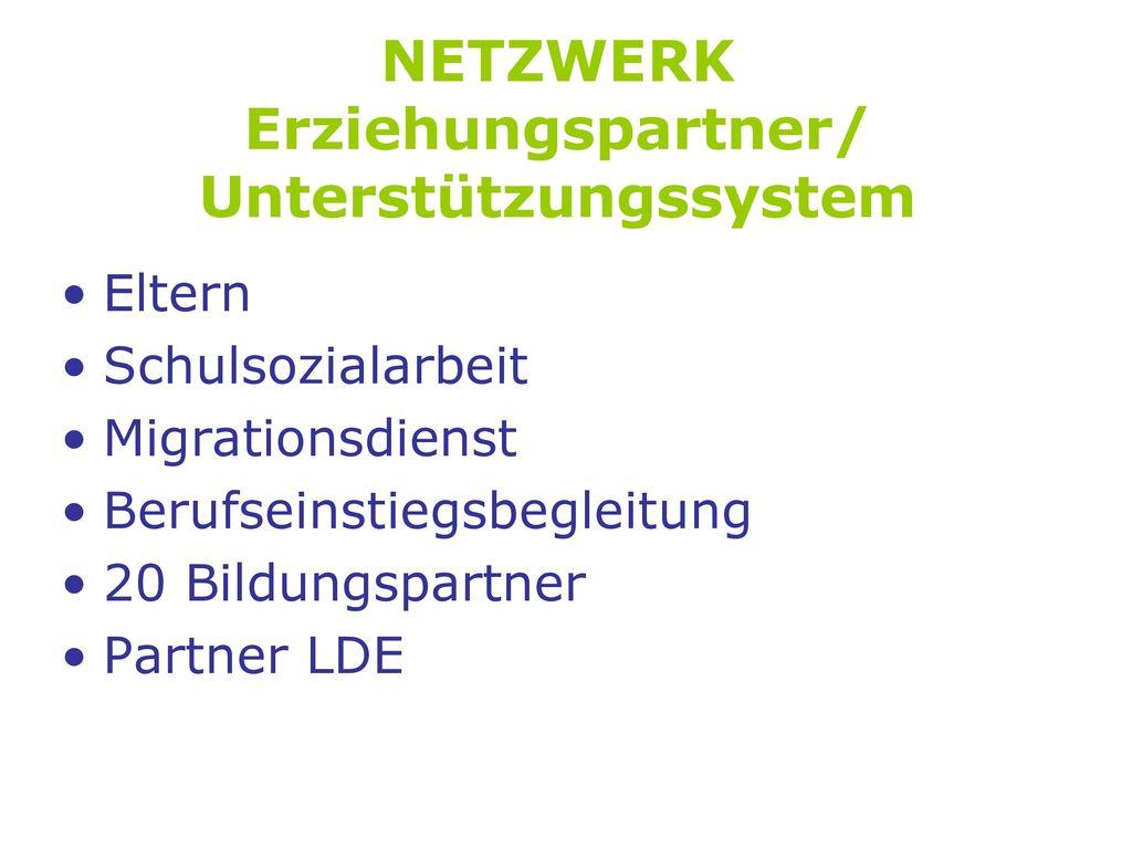 NETZWERK Erziehungspartner/ Unterstützungssystem