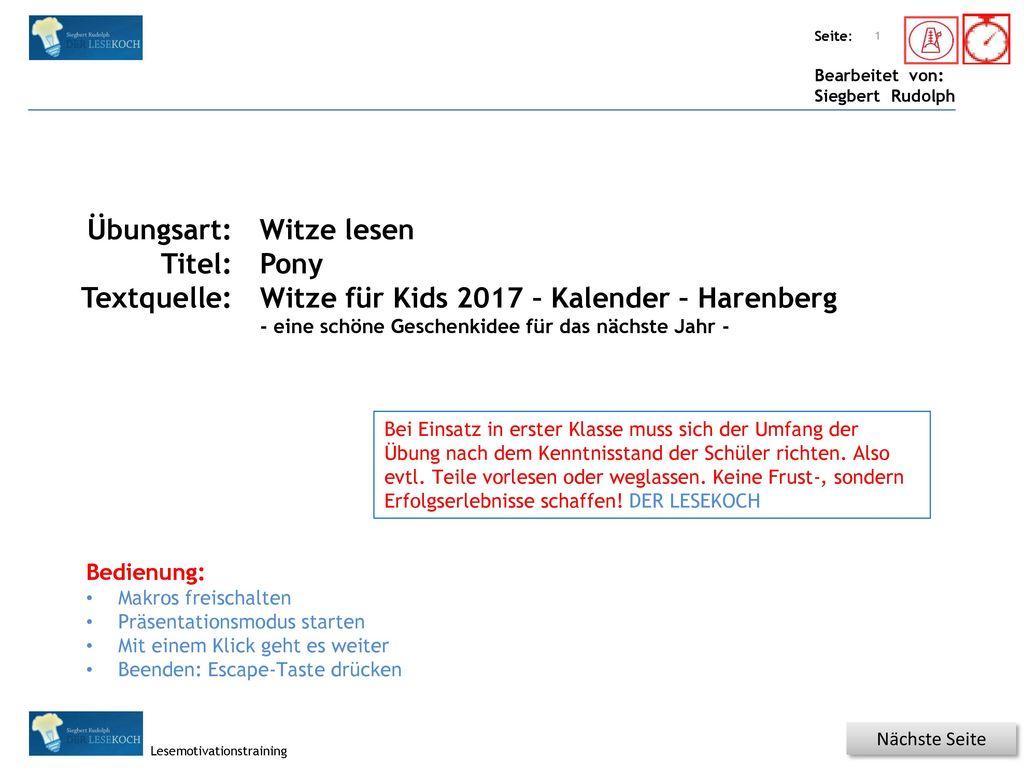 Witze für Kids 2017 – Kalender – Harenberg