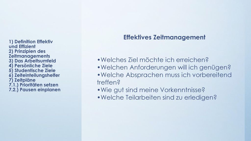 Effektives Zeitmanagement